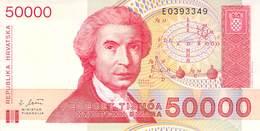 50 000 Dinar Kroatien UNC 1993 - Croatia