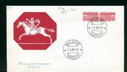 ITALIA - FDC - 1968 - TRASPORTO PACCHI IN CONCESSIONE  -  LIRE 150 - 6. 1946-.. Republic