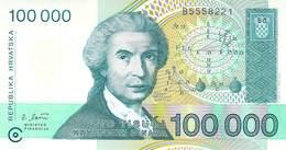 100 000 Dinar Kroatien UNC 1993 - Croatie
