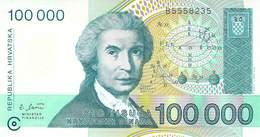 100 000 Dinar Kroatien UNC 1993 - Croatia
