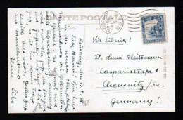 MANDSCHUKUO - 1938 - 10 F. Auf Karte Aus HSINKING Nach Deutschland - Timbres