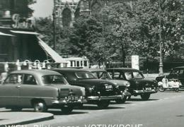 Rarität Seltene AK Wien PKW Automobile Personen Votivkirche Sw Tramway Straßenbahn 1.7.1956 - Wien Mitte