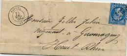 Lettre De VITTEL (Vosges GC 4308 Cachet Type15 - Marcophilie (Lettres)