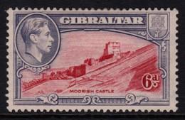 Gibraltar 1942 6d Moorish Castle MH  SG 126b - Gibraltar