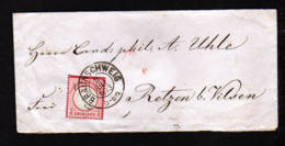 1 Gr. Oben Geschnitten Auf Brief 1873 Ab Braunschweig Nach Retzen - Allemagne