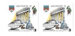 CNEP Salon Philatelique De Bordeaux Aquitaine 90 Lot De 2 Blocs - CNEP