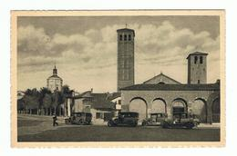 MILANO:  BASILICA  DI  S. AMBROGIO  -  AUTO  D' EPOCA  -  FP - Chiese E Conventi