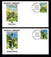 POLYNESIE FRANçAISE 1995   OISEAUX Uniques Au Monde  2 Valeurs Sur Enveloppes FDC  SUPERBE - Lettres & Documents