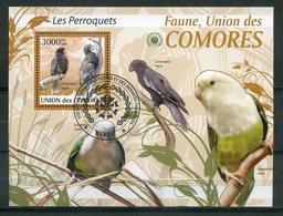 COMORES   2009   Oblit/used   Perroquets   Parrots . - Mouettes