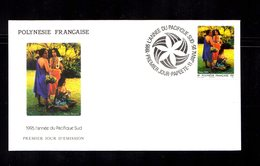 POLYNESIE FRANçAISE 1995   Tourisme Pacifique Sud  Sur Enveloppe FDC  SUPERBE - Lettres & Documents