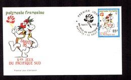 POLYNESIE FRANçAISE 1995   Jeux Du Pacifique Sud Sur Enveloppe FDC  SUPERBE - Lettres & Documents