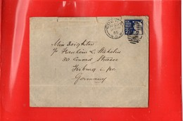 ##(DAN197)-Postal History-New South Wales 1905-  Cover From Cowra To Friburg-Germany - Storia Postale