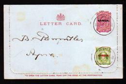 1 P. Ganzsache (Kartenbrief) Gestempelt Apia Mit Zensurstempel - Samoa