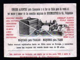 """1907 - 5 C. Ganzsache Mit Abbildung """"Nähmaschine"""" - Gebraucht Ab Conception - Textile"""