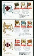 SOVRANO MILITARE ORDINE DI MALTA - SMOM - FDC FILAGRANO - 1967 - BANDIERE - Sovrano Militare Ordine Di Malta