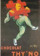 Publicité Vieille Affiche Chocolat Thy'No 1920 (2 Scans) - Advertising
