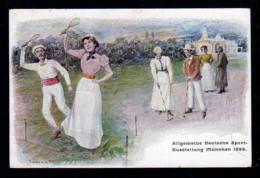 1899- 5 Pf. Privat Ganzsache Sportausstellung München - Tennisspieler - Ungebraucht - Tennis