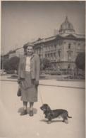 Woman W Dachshund Dog Real Photo 1956 - Cani