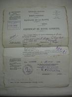 CROISEUR CUIRASSE MARSEILLAISE Livret De Solde Matelot+certificats + Photo En 1925 - Boats