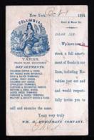 """1 C. Ganzsache Mit Abbildung """"Frau Mit Schafen"""" - Gebraucht 1894 Ab New York - Ferme"""