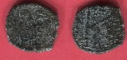 JUSTIN II 1/2 FOLLIS THESSALONIQUE ( S 366)  B/ TB 15 - Byzantine