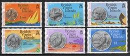 British Virgin Islands 1973 Queen Elizabeth Set Of Stamps Celebrating First Issue Of Coinage. - British Virgin Islands