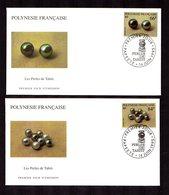 POLYNESIE FRANçAISE 1995   Perles De Tahiti   Sur 2 Enveloppes FDC  SUPERBE - Lettres & Documents