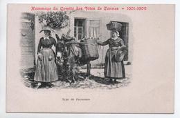 HOMMAGE DU COMITE DES FETES DE CANNES 1901-1902 - TYPE DE PAYSANNES - ANE - Cannes