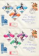1980 LAKE PLACID - Ungarn - MiNr: 3390-3395 Komplett Auf 2 Rekobelegen - Winter 1980: Lake Placid