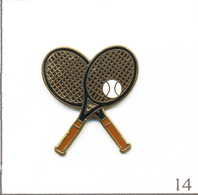 Pin's - Sport - Tennis / Raquettes Croisées Et Balle. Estampillé Tablo. EGF. T663-14 - Tennis