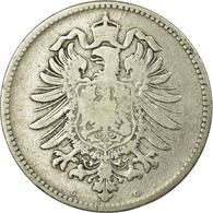 Monnaie, GERMANY - EMPIRE, Wilhelm I, Mark, 1876, Karlsruhe, TB, Argent, KM:7 - 1 Mark