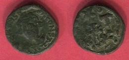 CONSTANS II  1/2 FOLLIS  CARTHAGE  ( S 1057 )    TB 12 - Byzantine