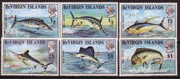 British Virgin Islands 1972 Queen Elizabeth Set Of Stamps Celebrating Game Fish. - British Virgin Islands