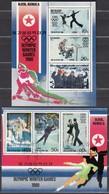 1980 LAKE PLACID - Nordkorea - MiNr: 1941-1946 Kleinbogensatz Komplett - Winter 1980: Lake Placid
