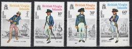British Virgin Islands 1972 Queen Elizabeth Set Of Stamps Celebrating Interpex (Naval Uniforms). - British Virgin Islands