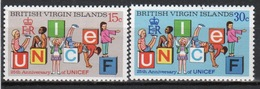 British Virgin Islands 1971 Queen Elizabeth Set Of Stamps Celebrating 25th Anniversary Of UNICEF. - British Virgin Islands