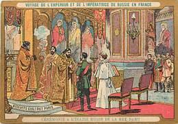 - Chromos -ref-chA572- Biscuits Guillout -visite Empereur De Russie à Paris -verso Programme Musique Garde Républicaine - Other