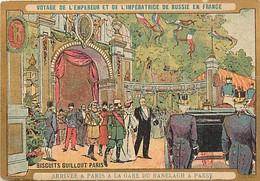 -chromos -ref-chA570- Biscuits Guillout -visite Empereur De Russie à Paris -verso Programme Musique Garde Républicaine - Other