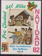 Bolivia 1982 - Natale Christmas Navidad Noel Sheet MNH Imp. Scout / Music - Natale
