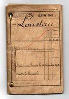 LIVRET MILITAIRE - CLASSE 1901 - DOUANIER - COMPAGNIE FORTERESSE DE MONTBELIARD LOMONT - Documents