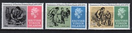 British Virgin Islands 1970 Queen Elizabeth Set Of Stamps Celebrating Death Centenary Of Charles Dickens. - British Virgin Islands