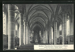 AK Gonsenheim-Mainz, Katholische Pfarrkirche, Innenansicht - Mainz