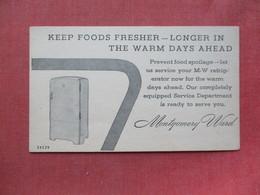 Refrigerator  Montgomery Ward >   Ref 3405 - Advertising