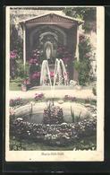 AK Mainz, Maria-Hilf-Stift, Gartenansicht Mit Springbrunnen Und Blumen - Mainz