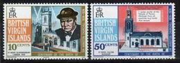 British Virgin Islands 1974 Queen Elizabeth Set Of Stamps Celebrating Birth Centenary Of Winston Churchill. - British Virgin Islands