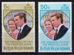 British Virgin Islands 1973 Queen Elizabeth Set Of Stamps Celebrating Royal Wedding. - British Virgin Islands