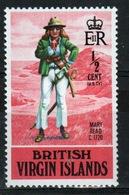 British Virgin Islands 1970 Queen Elizabeth Single Stamp From The Pirate Set. - British Virgin Islands