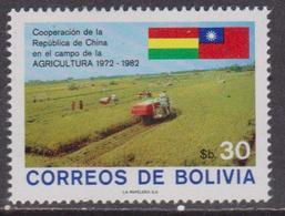 Bolivia Farm Agricol Flags Set MNH - Agricoltura