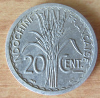 Indochine - Monnaie 20 Centimes Turin 1945 - Aluminium - SUP - Colonies