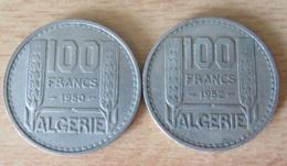 Algérie - 2 Monnaies 10 Francs Turin 1950 Et 1952 - SUP - Algérie